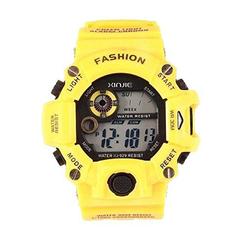 Fulltime® Quartz numérique sport montres LED militaire Silicone étanche Wristwatche hommes