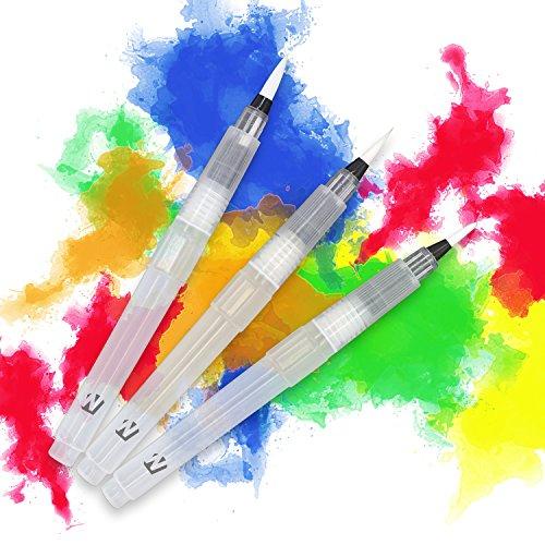 WINTEX® 3er-Set Wasserpinsel (feine, mittlere und breite Pinselspitze) mit integriertem auffüllbarem Wasserbehälter | 2 Jahren Zufriedenheitsgarantie | Water Brush, Wassertank-Pinsel, Aquarell Kunst Stifte, Aquarellzeichnen Kalligraphie