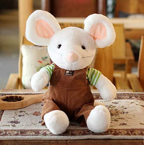 HYXGG Niedliche kleine Maus plüschtier Kinder Geburtstagsgeschenk kleine Maus Puppe Maus Lappen Puppe Maus Puppe Kaffee Farbe 33 cm