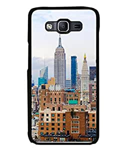 Snapdilla Designer Back Case Cover for Samsung Galaxy E5 (2015) :: Samsung Galaxy E5 Duos :: Samsung Galaxy E5 E500F E500H E500Hq E500M E500F/Ds E500H/Ds E500M/Ds (Skyscraper Tower House View)