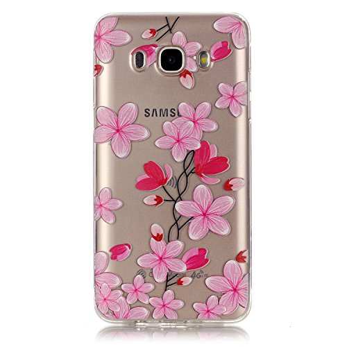 Pour Apple iPhone 6/6S(4.7 Zoll) Coque,Ecoway Housse étui Flexible protection en TPU Silicone Shell Housse Coque étui creux Slim Case Cover Cuir Etui Housse de Protection Coque Étui Apple iPhone 6/6S( Rose Petals