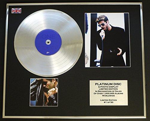 EC George Michael/Platin Schallplatte & Foto-Darstellung/Limitierte Edition/Faith