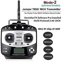 Multi-Protocol Transmitter Jumper T8SG Transmisor RC Transmitter ( Integrating the 4-in-1 Multimodule, 2.4G 10CH )for Flysky Frsky DSM2 Walkera Devo Futaba - by LITEBEE (Mode 2 Left Hand Throttle)