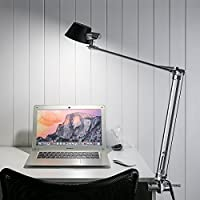 LE Swing Arm Desk Lamp, Dimmable LED Table Lamp, Flexible Clamp-on Stand, Touch Control, Eye Care Metal, Memory Function, Office, Bedside Reading Lights by Lighting EVER