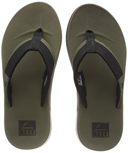 Reef Fanning Low, Chanclas Hombre, Verde Olive OLI