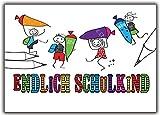 Einladung zur Einschulung Schulanfang Schuleinführung Einladungskarten - 10 Stück Schuleingang Schultüte Endlich Schulkind Mädchen schuleinführung junge mädchen Einladungskarten