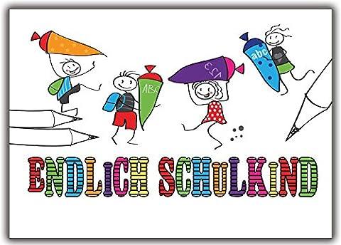 Einladung zur Einschulung Schulanfang Schuleinführung Einladungskarten - 8 Stück Schuleingang