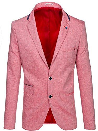 BOLF Herren Sakko Blazer Anzug 0134 Rot XS [4D4] |