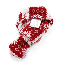 Rosetreee Christmas Pet Gift Scarf Puppy Scarf Giraffe Pattern Decor Dog Cat Warm Scarf Party Dress Up Scarf (Red-S)