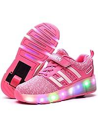 Flower-Ager Luces LED Coloridos Parpadeante Zapatos de Skate Zapatillas Calzado Deportes de Exterior Neutra Cordones Gimnástico…