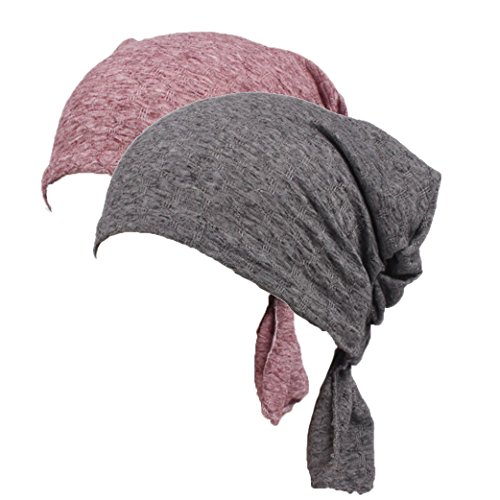 Frauen Chemo Cap Baumwolle Slouchy Beanie Hat weiche Turban Headwear Head Wraps