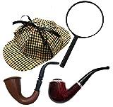Gorro de Cazador Sombrero Sherlock Holmes Estilo Accesorio de Disfraz Gorra victoriano Detective Country Tweed Gorra De Caza Sombrero
