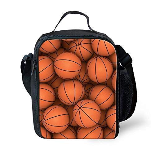 Fire 3D Soccer Printing Mini Rucksäcke + Lunch Purse Boxen (Color : Basketball Design-1, Size : -)