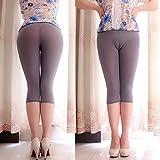 PinWei_ Ultra dünne Strumpfhosen Leggings 7 transparente Hose,Gray