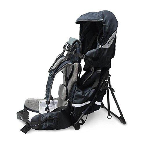 kiddy 47200TR010 Adventure Pack Rückentrage, integriertes Sonnen- und Regenverdeck, einklappbarer Standfuß, (70 - max. 105 cm, circa 5 Monate - 4 Jahre, 7.3-18 kg), Night, blau