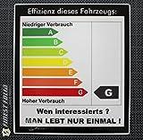 1x Effizienz CO2 Energie Auto Aufkleber Shocker FUN JDM V6 VR6 VW Tuning Sticker