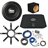 "Bass Package - Alpine Bassline 10"" Subwoofer w/Box, Dub 200 watt amp, Wiring Kit, and Alpine Grille"