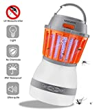 Texsens Moustiquaire Killer Lampe UV 2 en 1 LED Camping Lampe moustiquaire Portable...