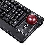 Perixx PERIBOARD-522 Mechanische Tastatur mit Trackball - 55 mm großer Trackball - Scrollrad - QWERTY US English Layout