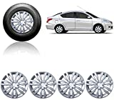 "Autorepute Car Full Silver Wheel Cover Caps 14"" Press Type Fitting For Nissan Sunny Amazon Rs. 1349.00"