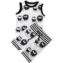 SMARTLADY Bebé Niños Camisetas Sin mangas Tops de Erizo patrón y pantalones cortos ropa (1 Conjunto )