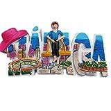 Malaga Spanien 3D-Kühlschrank-Magnet, Reise-Aufkleber, Buchstaben-Stil, Souvenir, Home & Kitchen Dekoration, Malaga Spanien Kühlschrankmagnet