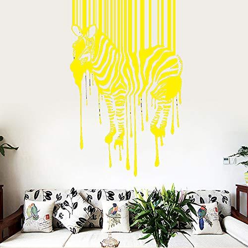 r Wandaufkleber Wandaufkleber Home Wohnzimmer Removable Decor Wandtattoos Mode Aufkleber Kreative Aufkleber gelb58 cm X 91 cm ()