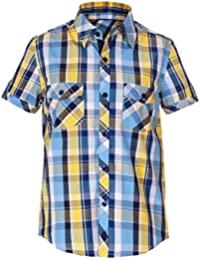 Naughty Ninos Boys Cotton Blue Short Sleeve Shirt For 2 to 14 Years