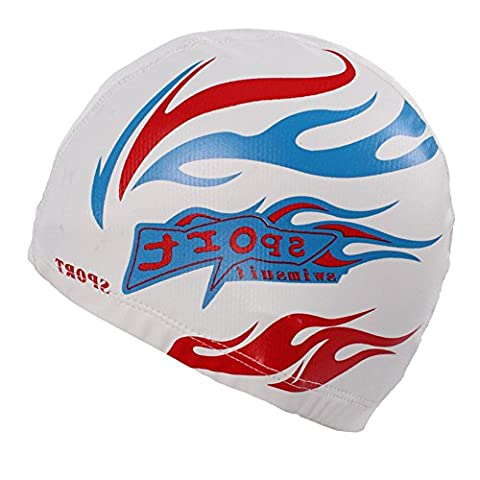 Adult Size Waterproof Breathable Swim Cap With PU Coat Can Fit Long Hair White