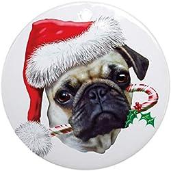 CafePress–adorno de Navidad, diseño de CARLINO (redondo)–redondo vacaciones Navidad adorno