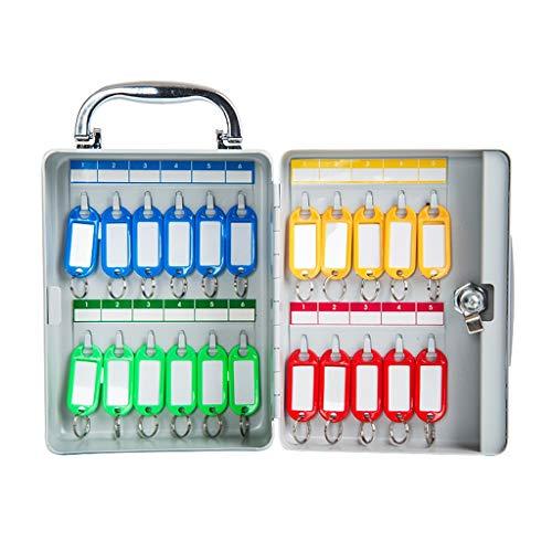 Armoires à clés Boîte de Rangement avec boîte à clés (Color : Gray, Size : 14.5 * 8 * 19.5cm)