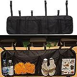 Kofferraum Organizer SANVA Auto Organizer mit großen Netz-Taschen | Sitztasche | Auto Aufbewahrungstasche | Rücksitz Organizer | Auto-Sitztasche für mehr Ordnung und Platz in Ihrem Kofferraum (schwarz)