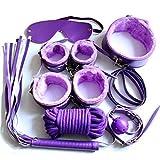 FORWIN UK- Sèxy Siete Piezas De Cuero De Felpa Ádùlt Sěx Súpplíěs Sēx Toys Cǒuples Alternativos Coqueteando Bundlě S-M (Color : Purple)