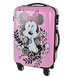Kinderkoffer Minnie Mouse Rosa mit Blumen