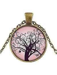 b18b461a6598 SUXNOS Regalo del Día de la Madre Collar del árbol de la Vida Colgante de  la Vendimia para Las Mujeres Regalo de…