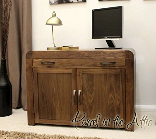 Bergamo - Solid Walnut Hidden Home Office Computer Desk Cupboard - Quality Handcrafted - Delivered Fully Assembled
