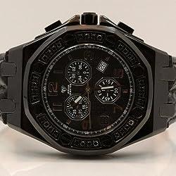Aqua Master Royal Oak Mens Diamond Watch 1.50ctw W3252