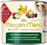 ChronoBalance Morgen-Menü (12 x 200g), Hochwertiges Nassfutter (Alleinfutter) für Hunde mit Bio-Huhn, glutenfrei, lactosefrei, allergikergeeignet
