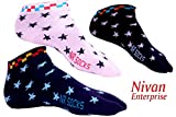 Nivan Enterprise Cotton Multicolored Striped Ankle Length Socks for women - Pack of 3