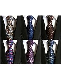Lotto 6 PCS Classico Formale elegante Uomo Cravatta di seta Designer  Cravatta 88ded52ed263