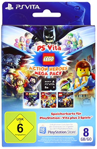 Sony Speicherkarte 8GB für PlayStation Vita inkl. DLC 3 LEGO-Spiele (Playstation Vita Spiele Lego)