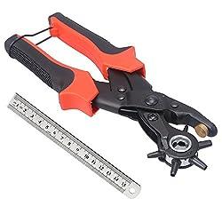 Gürtel Punch Zange ,Ballery Heavy Duty Punch Zange Leder Gürtel Stanz Werkzeug