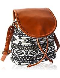 Kleio Women's Canvas Sling Bag (Multicolor,Bnb316Ly-Bwb)
