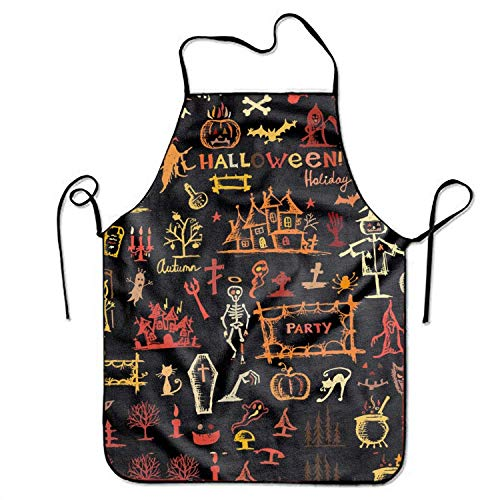 Cap clothes Halloween Ghost Whatever Unisex Cooking Kitchen Aprons Chef Apron Bib