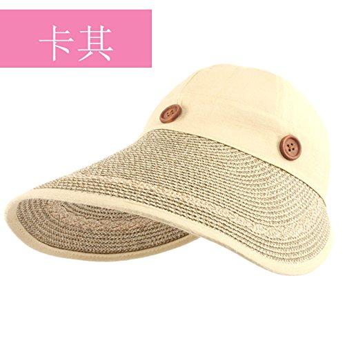 LLZTYM Women/Summer/Anti Ultraviolet/Sunshade/Outdoor/Gift/Headwear/Hat Khaki
