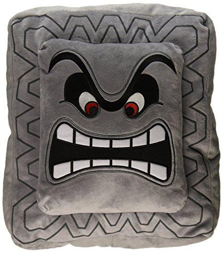 cojín/almohada y peluche oficial de Nintendo Super Mario de Thwomp 12