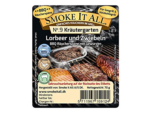 Preisvergleich Produktbild SMOKE IT ALL BBQ Räucherspäne Räuchermischung mit Gewürzen - Kräutergarten - 15912
