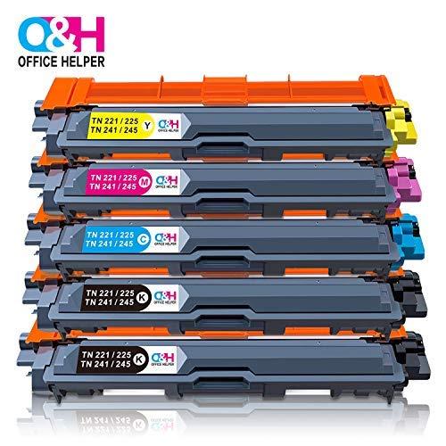 OFFICE HELPER TN-241 TN-245 Cartucce per toner Compatibili con Stampante Brother DCP-9015CDW DCP-9020CDW HL-3140CW HL-3150CDW HL-3152CDW HL-3170CDW MFC-9130CW MFC-9140CDN MFC-9330CDW MFC-9340CDW