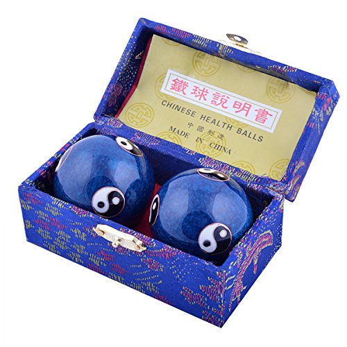 Feng Shui para la salud Exersice antiestrés bolas de diámetro: 3,8 cm/3,81 cm  W incluye Mxsabrina rojo Pulsera cuerdas F1105