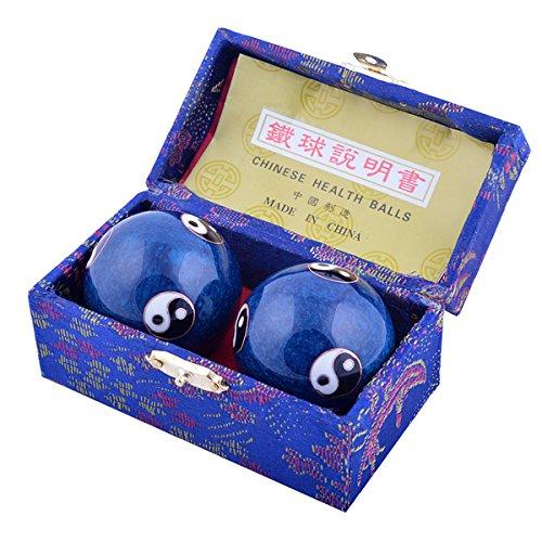 Feng Shui Health Exersice antistress palle, metallo, 3.8cm/1.5'